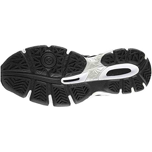 ASICS Men's Gel-Netburner Ballistic MT Volleyball-Shoes, Black/Dark Grey/Silver, 12 Medium US