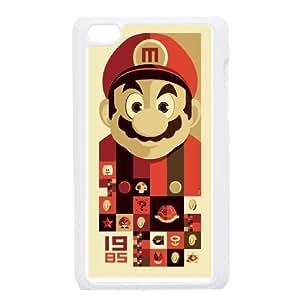 Generic for iPod Touch 4 Case White Super Mario Custom HSFHHHJOA3857