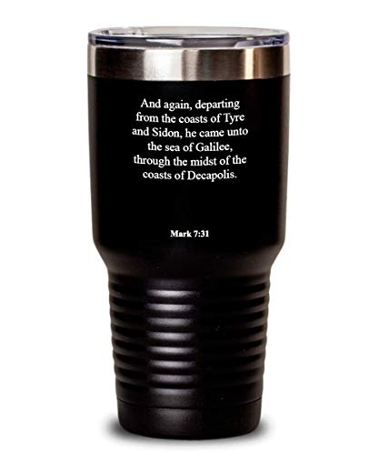 Hebrews 12 23 Tumbler - Heat Insulated With Lid, Faith/Bible Verse/Psalm Gift: