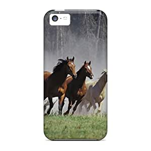 Slim Fit Tpu Protector Shock Absorbent Bumper Horses Runnig Case For Iphone 5c