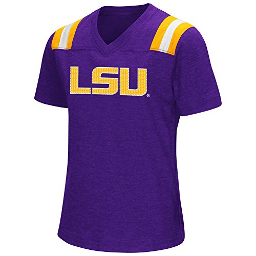 Toddler College Football Costumes (Youth Girls Colosseum Rugby LSU Tigers Louisiana State T-Shirt (YTH (7-8)))