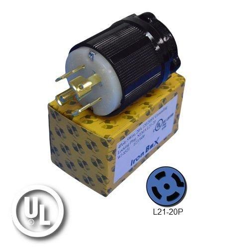 (NEMA L21-20P Plug - Rated for 20A, 120/208V, 5-Wire - Iron Box Part #)
