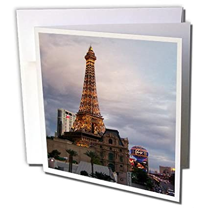 Amazon 3drose eiffel tower building in las vegas greeting 3drose eiffel tower building in las vegas greeting cards 6 x 6 inches m4hsunfo