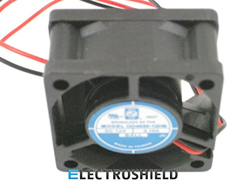 Orion Fans OD4020-12HB| 12 VDC | 40x40x20 mm | 9 CFM | 36dBA | 7800 RPM | .1 Amps| Wire Leads | Crosses with CR0412HB-C50 (Comair-Rotron), 1608KL-04W-B50 (NMB) and KD1204PKB1 (Sunon)