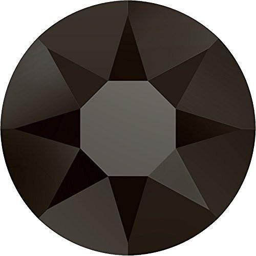 2000, 2038 & 2078 Swarovski Flatback Crystals Hotfix Jet Nut | SS6 (2.0mm) - Pack of 100 | Small & Wholesale Packs (Jet Swarovski Crystal Nut)