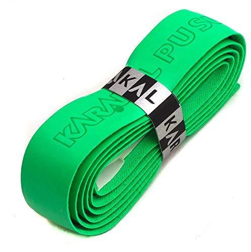 Karakal PU Supergrip Replacement Racquet Grip - tennis/badminton / squash 2 x Grip (Green)