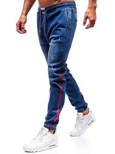 Imitazione Coulisse Ombreggiature Nastro Bolf 2053 6f6 Sovraimpunture Della Blu Jeans Street Da Moda Cerniera Uomo Stile Stemma Decorativo Di Jogger Con qI11t8xw4