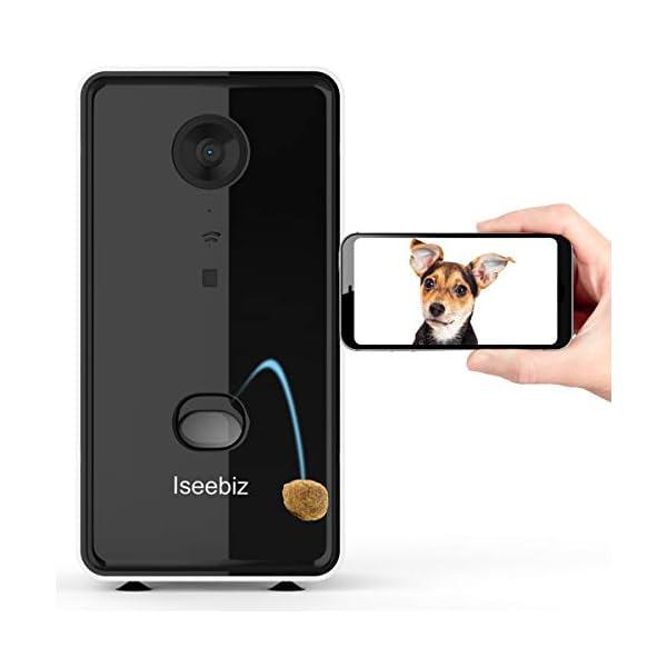 Iseebiz Smart Pet Camera, [2021 UPGRADED] Dog Camera Treat Dispenser, 2-Way Audio, 1080P Night Vision Cam, App Control…