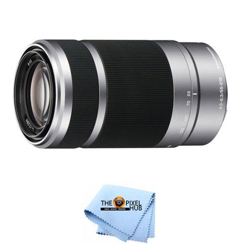 Sony E 55 – – 210 OSS mm F/ 4.5 Cloth – 6.3 OSS e-mountレンズ[インターナショナルバージョン] B07F6WFQMK シルバー Lens + Free Cloth, 阿久比町:ba4341b9 --- ijpba.info
