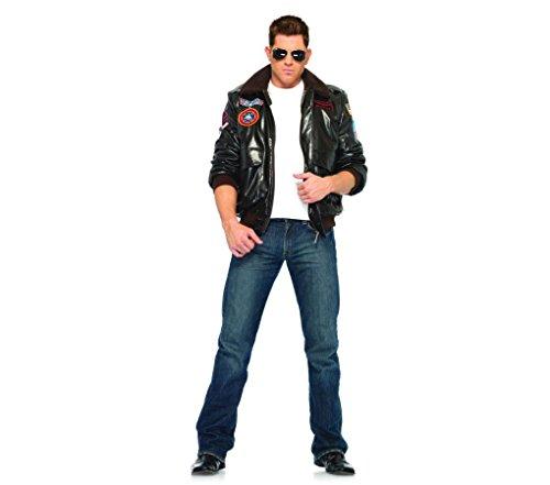 [Top Gun Men's Bomber Jacket Set Costume - Large - Chest Size 44] (Top Gun Bomber Jacket Costume)