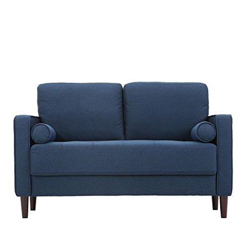 Pearington Lang Port Fabric Living Room, Navy Blue, 2 Seat Loveseat/Sofa by Pearington