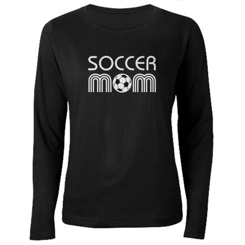 CafePress - Retro Soccer Mom Women's Long Sleeve Dark T-Shirt - Women's Long Sleeve T-Shirt, Classic 100% Cotton Crew Neck Shirt - Retro Soccer Jackets