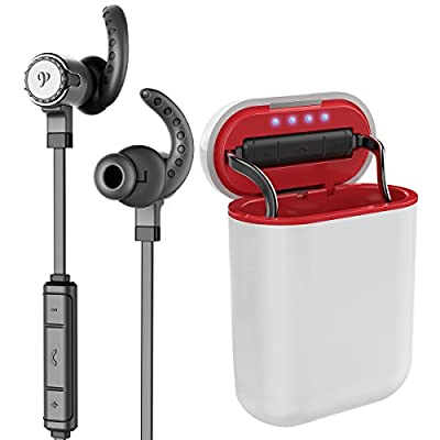 Wireless Bluetooth Earbuds, Parihy Revolutionary Earphone with Charge Box, Voice Command, 8Hours, Hifi Stereo Super Bass Headphones, Support 2Devices, Sweatproof Sports In-Ear Earpieces