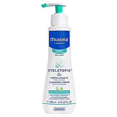 Mustela Stelatopia Cleansing Cream for Eczema-Prone Skin, 6.7 oz.