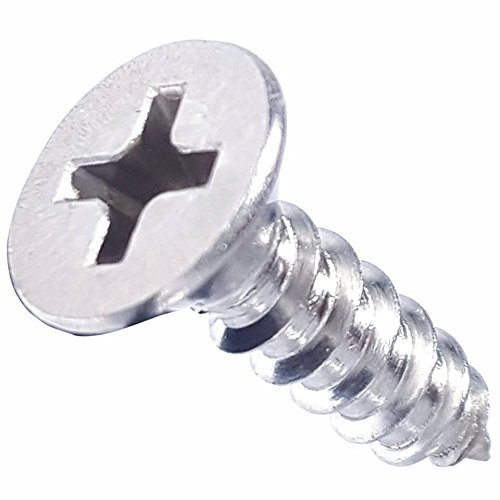 Bright Finish Quantity 25 by Fastenere #6 x 1//2 Flat Head Wood Screws Phillips Drive Type 316 Marine Grade Stainless Steel Full Thread