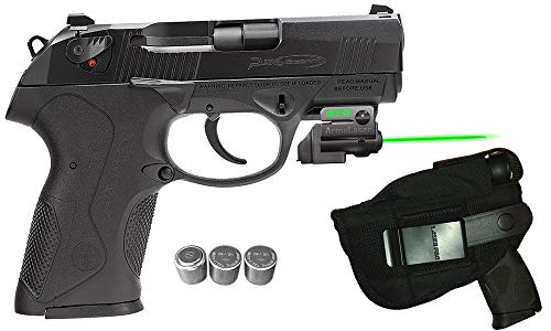 Laser Kit for Beretta PX4 Storm Compact w/LASERPRO Holster, Grip Activated ArmaLaser GTO-G Green Laser Sight & 2 Extra Batteries (Best Laser For Px4 Storm)