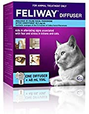 Feliway Feline Facial Pheromone Diffuser & Refill (48ml) for Cats/Kittens Anxiety, Stress Relief and Fear