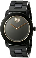 Movado Men's 3600315 Analog-Display Swiss Quartz Black Watch