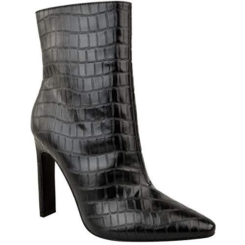 Da da Eleganti Sexy Lavoro Tacco Thirsty Sexy Eleganti Caviglia Nero Alto Nero   0b3f25