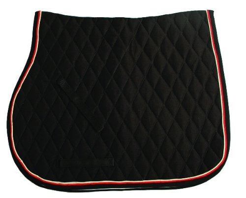 (Black, Tan/ Orange & Black, Cob/Full) - Horseware Rambo Grand Prix Show Jumping Saddle Pad Black, Tan/ Orange & Black Cob/Full   B007ZVF502