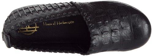 Harlow Noir para de Zapatos cuero Black Of Kye House Schwarz mujer Whipstitched Negro P5qOwH0