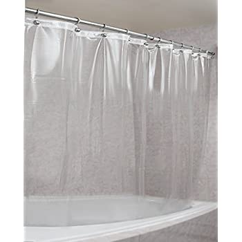 Strongest Mildew Resistant Shower Curtain Liner On The Market 100%  Anti Bacterial 10 Gauge Heavy Duty Liner Waterproof 72x72 Inches Clear
