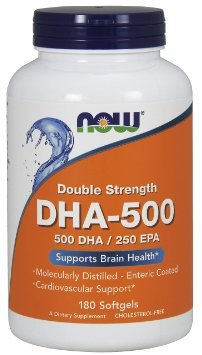 NOW Foods DHA-500, 180 Softgels , Pack of 3
