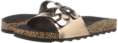 Womens Polyurethane Harvey Casual Sandals Toe Black Slide 01 Open Qupid v46FFp