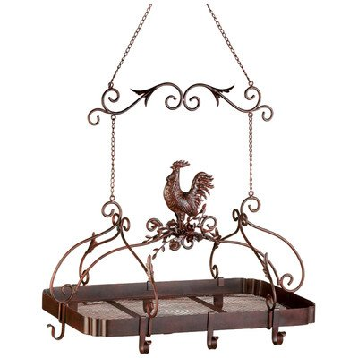Smart Living Company 10012657 Rooster Hanging Pot Rack, None, Multi Colour