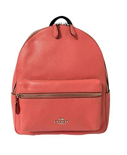 Coach F30550 Medium Charlie Backpack (SV/Coral)