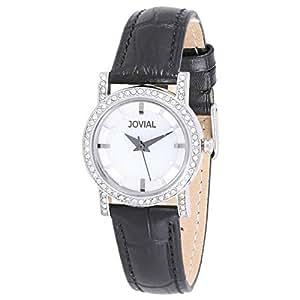 Jovial Women's Blue Dial Leather Band Watch - 5212 LSLQ 13 ZE