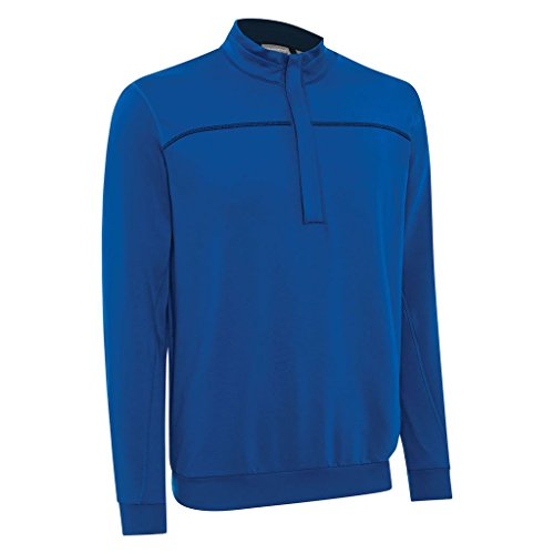 Ashworth 2015 Performance EZ-SOF Wind-Lined Half Zip Thermal Sweater Mens Golf Pullover Classic Blue Small