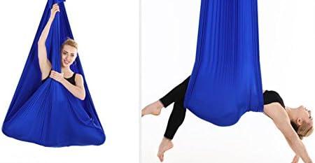 Brinny Yoga DIY Silk Pilates Premium Aerial Silks Equipment Aerial Yoga Cloth Hammock Set Elastic Deluxe Aerial Kit Antigravity yoga Swing with Carabiner /& Daisy Chain Accessories 5Mx2.8M