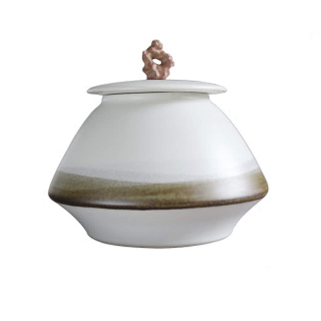 家の居間およびオフィスの理想的なギフトのための陶磁器の花瓶、大口径の創造的な手描きの装飾 B07SBVDY8J