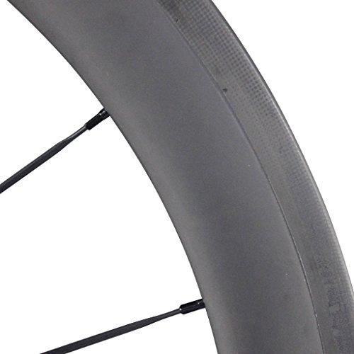 ICAN 50mm 700C Carbon Wheelset Road Bike Clincher Rim Shimano or Sram 10/11 Speed 1510g (Classic Wheelset)