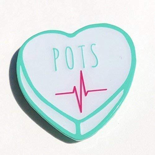 POTS Awareness enamel pin