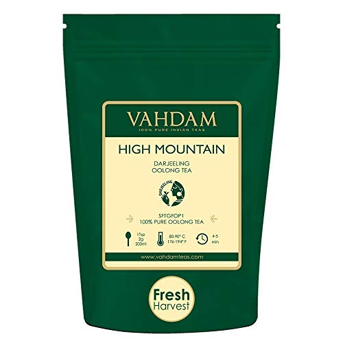 VAHDAM, High Mountain Oolong Tea Leaves from Himalayas (50 Cups), 3.53oz, OOLONG TEA FOR WEIGHT LOSS, 100% Detox Tea, Weight Loss Tea, Slimming Tea - Brew Hot, Iced, Kombucha Tea ()