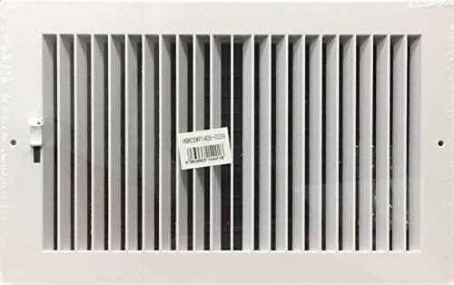 HBW Two-Way Plastic Side Wall/Ceiling Register in White 14