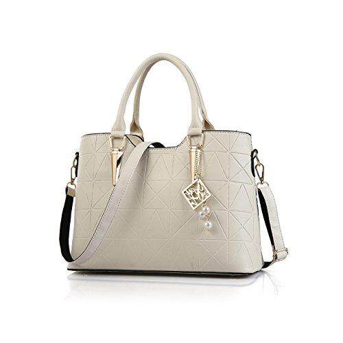 Tisdaini Woman Handbag Fashion Retro Bag Messenger Bag Large Size Female Bag Wallet White