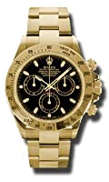 Rolex Daytona Yellow Gold Bracelet Watch, Black Index Dial