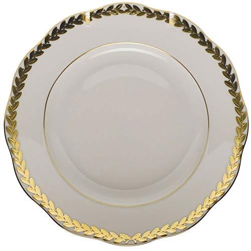 - Herend Golden Laurel Porcelain Salad Plate