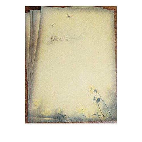 QingLanJian Vintage Kraft Paper Writing Paper with Envelopes Stationary Sets-32 Sheets and 16 Envelopes by QingLanJian (Image #4)