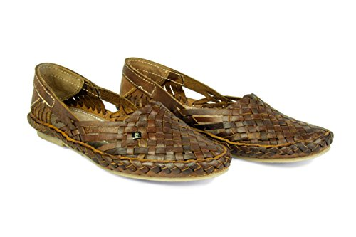 Men's Shoes Brown Flat Belle Kolhapuri Style Chappal Leather Flop Slippers Loafers , US-9.5