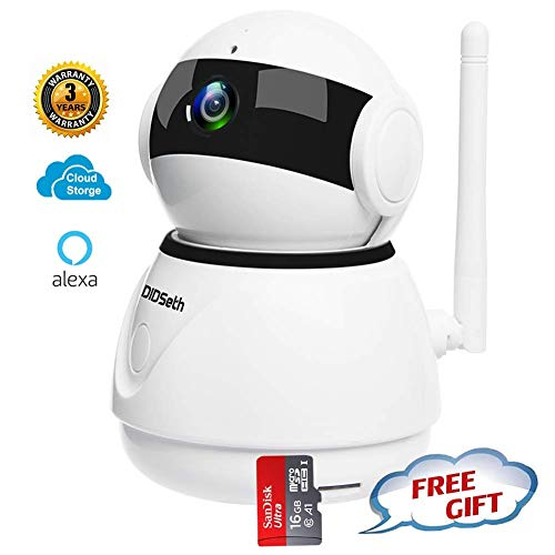 WiFi Home Security Camera,360 IP Home Security Camera 1080P Wireless Baby Monitor with 16GB SD Card for Home,Garage,Shops,Office,Store,Pet,Elder with Pan/Tilt,Zoom,Alexa Echo Show N564