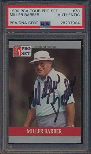 Card Golf Set Pro (#78 Miller Barber - 1990 Pro Set Golf Cards Graded Auto - Autographed Golf Cards)