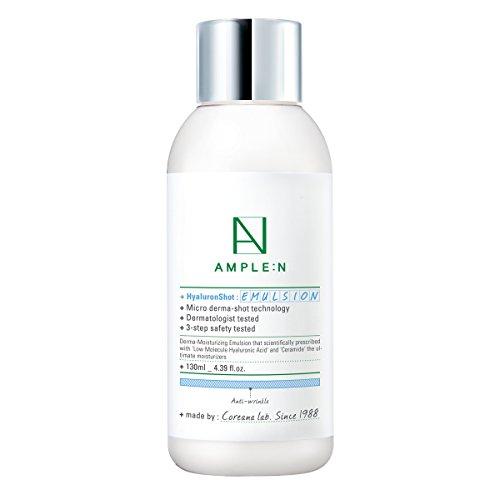 ([AMPLE:N] Hyaluron Shot Emulsion 4.39 fl. oz. (130ml) - Long Lasting Hydration Lotion/LOCK moisture for long-lasting glow)