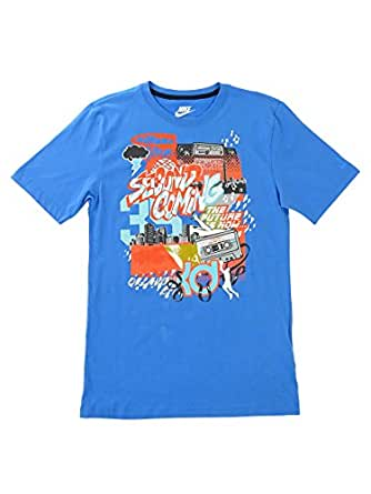 Nike Men's Basketball Graphic Organic Cotton Tee (Blue, S)