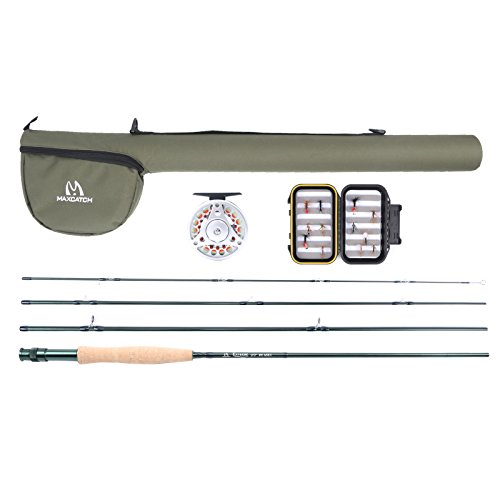 Maxcatch explorer fly fishing combo kit 6 weight fly rod for Fly fishing rod and reel combo