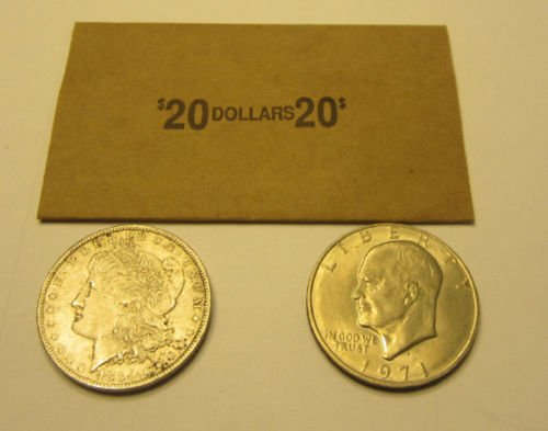 New 50 Coin Wrappers For Morgan Peace Eisenhower Ike Silver Dollar Coins Paper by Business Review (Image #1)
