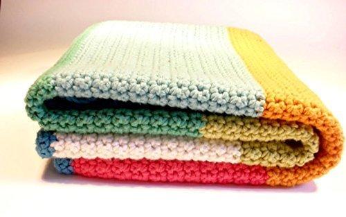 Crochet baby blanket, colorful blanket, crochet striped blanket by Crochet on a tree